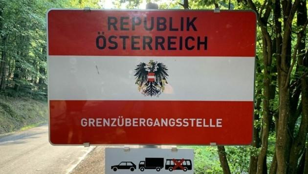 Grenzübergang in Neumarkt an der Raab. (Bild: Christian Schulter)