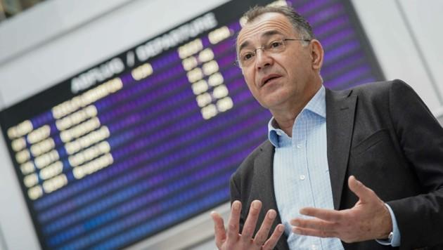 Norbert Draskovits ist Geschäftsführer des Linzer Flughafens. (Bild: Markus Wenzel)