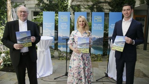 Klimaschützer: Schöpfungsbewahrer Bischof Schwarz, Schauspielerin Schneider, Bernhuber (Bild: Groh Klemens)
