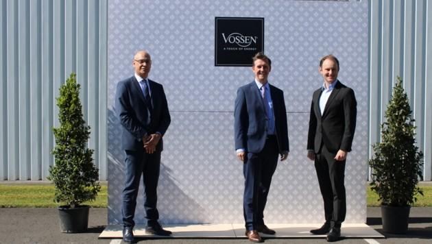 GF DI Werner Blohmann, Vorstand Linz Textil Holding AG Mag. Friedrich Schopf und GF Mag. Paul Mohr. (Bild: Vossen)