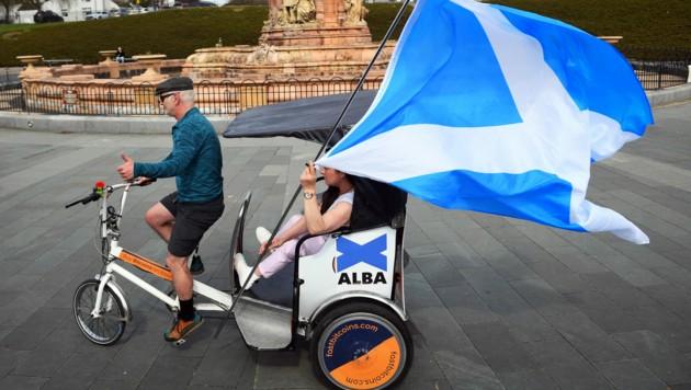 Am Donnerstag wählen die Schotten ein neues Parlament. (Bild: AFP)