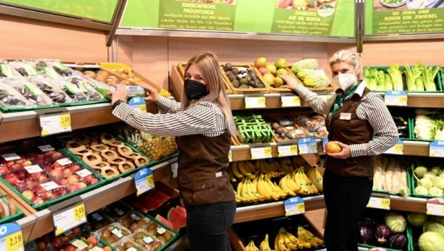 Auf etwa 1000 Quadratmeter Verkaufsfläche finden die Kunden im neu errichteten Eurospar in Selpritsch auch zahlreiche regionale Produkte. (Bild: Sobe Hermann)