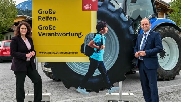 LR Ingrid Felipe und LR Josef Geisler appellieren an das Verantwortungsbewusstsein der Lenker. (Bild: LIEBL Daniel)