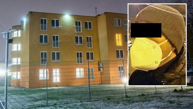 Das Familien-Schubhaftzentrum in Wien-Simmering. Kleines Bild: Der Vater der abgeschobenen Mädchen (Bild: APA/GEORG HOCHMUTH)