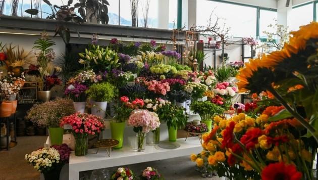Die Tiroler Blumengeschäfte bieten zum morgigen Muttertag ein breites Angebot. (Bild: LIEBL Daniel   zeitungsfoto.at)