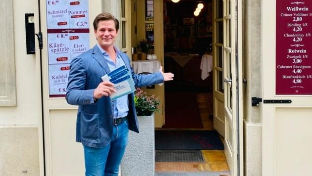 """Peter Hrtica vom """"Alt Wien"""" zeigte sich erfreut, ab 19. Mai wieder Gäste bewirten zu dürfen. (Bild: zVg)"""