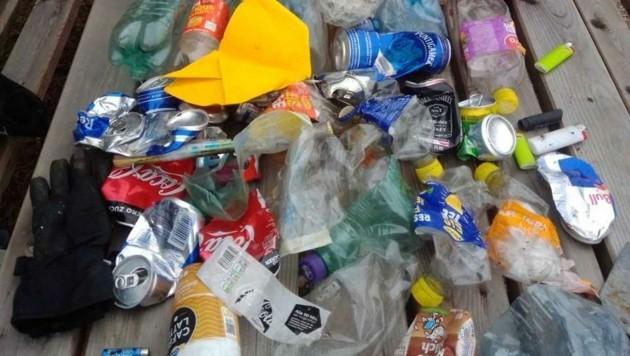 Müllausbeute auf Rastplätzen (Bild: zVg)