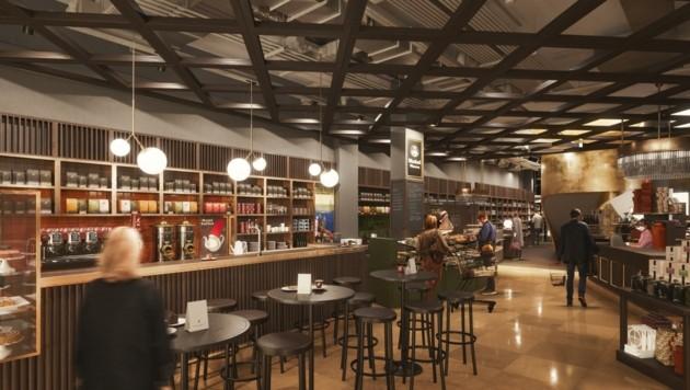 Meinl genießt den Ruf als Vorreiter des guten Geschmacks. Nach dem Umbau ist mehr Platz im Kaffeehaus. (Bild: Hamann, Architects Bokeh)