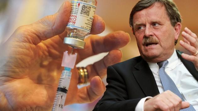 Die Aufhebung des Patentschutzes der Corona-Impfungen dürfte der Pharmaindustrie Milliarden kosten. (Bild: AP/Matt Slocum, picture alliance/Tobias Hase für Deutsches Ärzteblatt, Krone KREATIV)