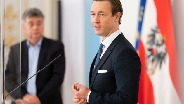 """Finanzminister Gernot Blümel (ÖVP): """"Hilfen sukzessive zurückfahren."""" (Bild: GEORG HOCHMUTH)"""