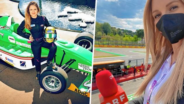 Corinna Kamper (li.), die wieder in der Formel 3 durchstarten will, und Bianca Steiner (re.) zählen bei den Formel-1-Übertragungen neben Hausleitner und Wurz zum ORF-Experten-Team. (Bild: Doris Sporer, zVg)
