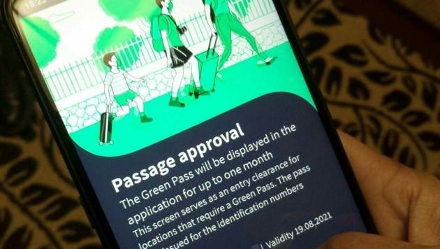 Der Grüne Pass auf einem Smartphone (Symbolbild) (Bild: APA/Petra Edlbacher)