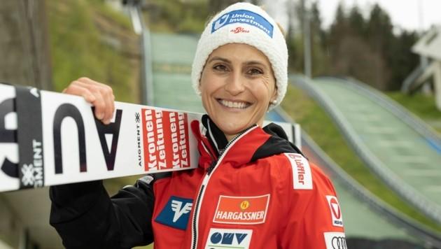 ÖSV-Adlerin Eva Pinkelnig wurde beim Auftakt zum Sommer GP in Wisla (Pol) Vierte. (Bild: Maurice Shourot)