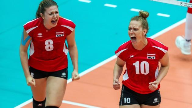 Katharina Holzer (li.), Sabrina Mueller (re.) (Bild: GEPA pictures)