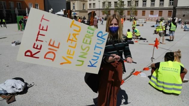 Vor allem junge Menschen engagierten sich für die Rückkehr der Kultur nach der Pandemie. (Bild: Birbaumer Christof)