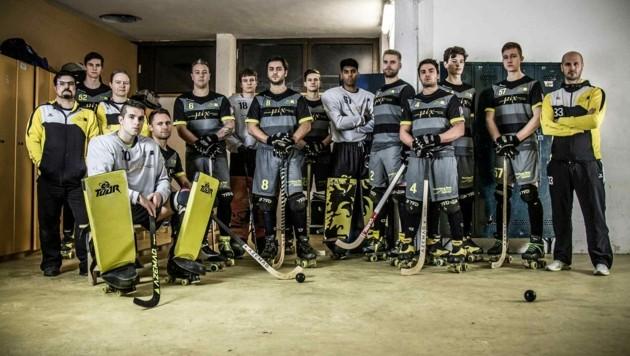 Die Rollhockey-Cracks vom RHC Dornbirn sind spielbereit. (Bild: Verein)