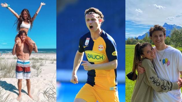 Für Brenden Aaronson läuft's sportlich, aber auch privat mit Freundin Milana. (Bild: Collage: Fotos Gepa, Brenden Aaronson)