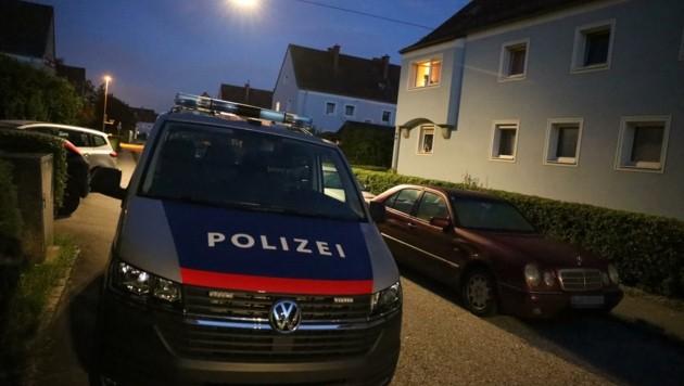 Der Tatort der frühmorgendlichen Messerattacke in Wels (Bild: Matthias Lauber)
