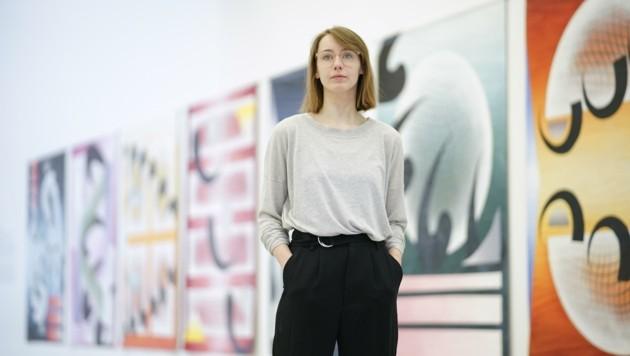 Monja Milzner aus Hamburg ist Gast in Thalheim. (Bild: Wenzel Markus)