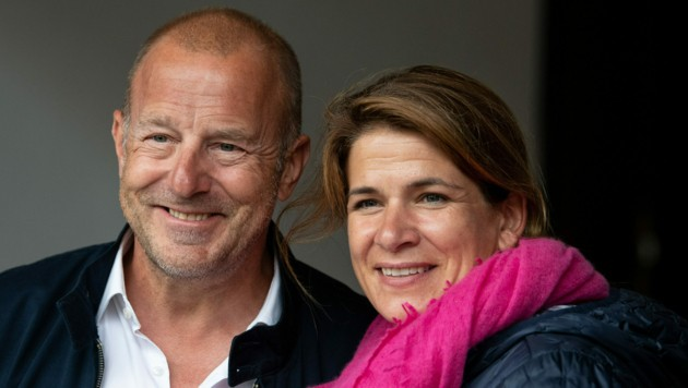 Heino Ferch und Ehefrau Marie-Jeanette (Bild: Sven Hoppe / dpa / picturedesk.com)
