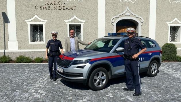 Nadine Fest absolviert ihr Praktikum bei der Polizei Sattendorf (Bild: zVg)