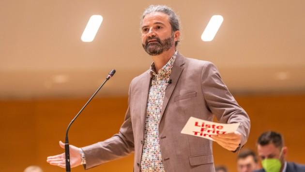 LA Markus Sint (Liste Fritz) während einer Sitzung des Tiroler Landtags am Dienstag, 11. Mai 2021, in Innsbruck. (Bild: APA/EXPA/JOHANN GRODER)