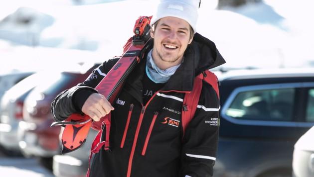 Nicolas Lussnig wechselt sein Metier von Ski Alpin zum Skicross. (Bild: Maurice Shourot)