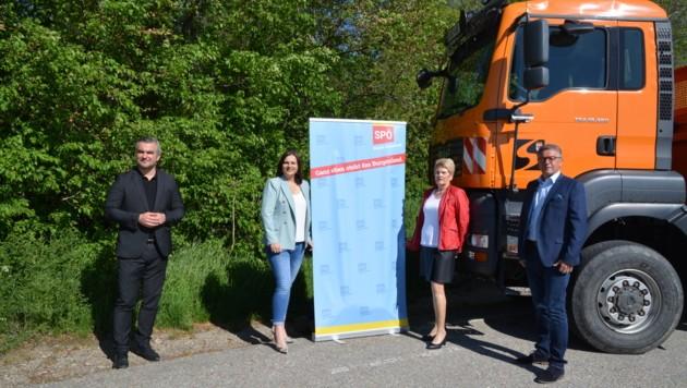 Landesrat Heinrich Dorner und Landeshauptmann-Stellvertreterin Astrid Eisenkopf präsentierten die Bauvorhaben für Eisenstadt. (Bild: Charlotte Titz)