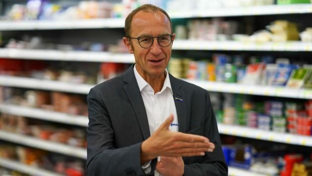 Unimarkt-Gruppe-Eigentümer Andreas Haider. (Bild: Markus Wenzel)