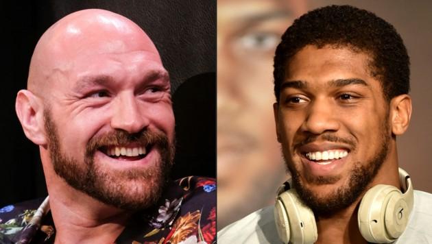 Tyson Fury (li.), Anthony Joshua (re.) (Bild: AFP or licensors)