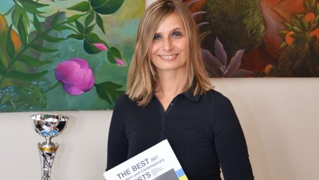 Psychologin Gedl gewann mit ihrem Bild italienischen Kunstpreis. (Bild: Landesklinikum Waidhofen/Thaya)