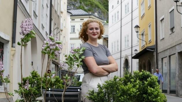 Günstige Lokale, leistbares Wohnen, grüne Fassaden und konsumfreie Räume wünschen sich Studenten wie Keya Baier. (Bild: Tschepp Markus)