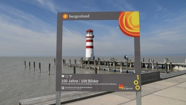 Auch in Podersdorf am See gibt es einen Instapoint für Urlaubsbilder (Bild: Huber Patrick)