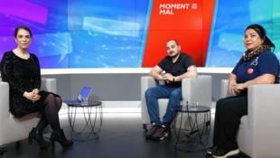 Darko Markovic und Hanife Ada (r.) mit Damita Pressl im krone.tv-Studio (Bild: Groh)