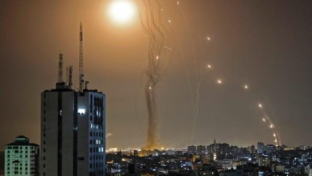 Das israelische Abfangsystem soll bis zu 90 Prozent der Hamas-Raketen zerstören. (Bild: AFP)