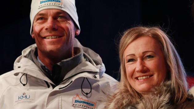 Michael Walchhofer (li.) und Renate Götschl (Bild: GEPA )
