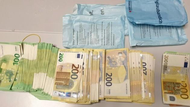 90.900 Euro des mitgeführten Bargelds wurden an Ort und Stelle gepfändet. (Bild: BMF)