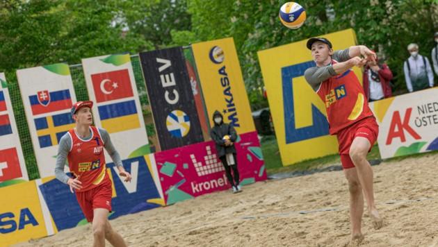 Theo Reiter und Timo Hammarberg verlieren Auftaktspiel gegen Russland. (Bild: www.foto-agent.at / Markus Hammer)