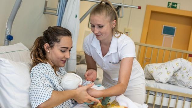 Kinder- und Jugendpflege ist einer der Bereiche, in denen die FH Joanneum in Graz Studierende ausbildet (Bild: FH Joanneum)