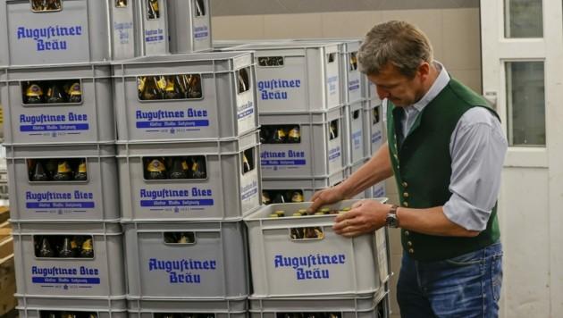 4000 Hektoliter Bier warten im Augustiner Bräu darauf, ab kommender Woche von den Gästen getrunken zu werden. (Bild: Tschepp Markus)