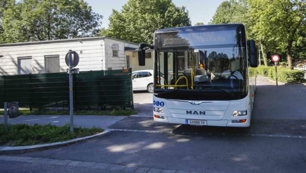 """Linie 23 beim """"Lepi"""" (Bild: Tschepp Markus)"""