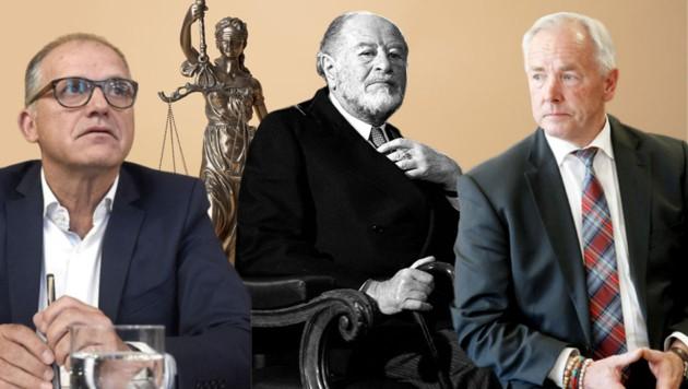 Von angeklagt bis verurteilt: Ernst Strasser, Bruno Kreisky, Gerhard Dörfler (v.l.) (Bild: APA)