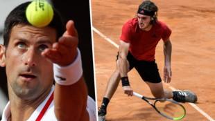 Novak Djokovic (li.) und Stefanos Tsitsipas (Bild: AP, APA/AFP/Filippo MONTEFORTE)