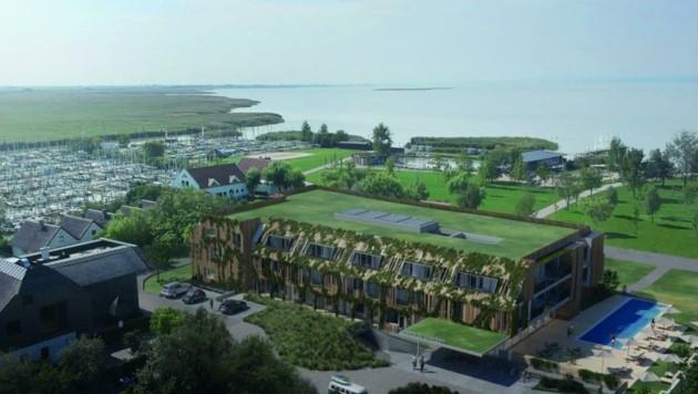 Der Bau musste vom Welterbe-Rat abgenommen werden. Baustart ist im September, fertig sein möchte man im Frühjahr 2023. (Bild: SEE.HAUS Weiden GmbH)