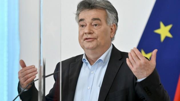 Vizekanzler Werner Kogler (Grüne) will einer Entscheidung der Justiz nicht vorgreifen. (Bild: APA/Herbert Neubauer)