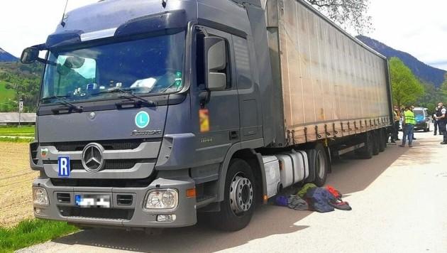 Der Bulgaren-Lkw (Bild: Bundespolizei)