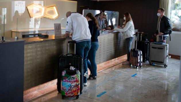 Auf Mallorca öffnen immer mehr Hotels. Mittlerweile haben schon 188 Häuser auf der Ferieninsel geöffnet. (Bild: AFP)