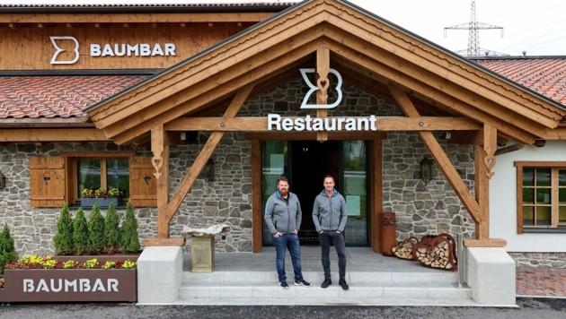 Baumbar-Chefs Herbert Hamoser und Johannes Brucker (Bild: Roland Hölzl)