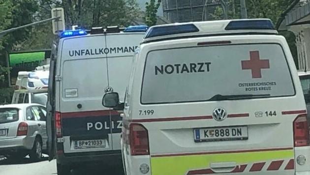 Unfall in der Feldkirchnerstraße. (Bild: zVg)