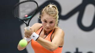 Dayana Yastremska beim Linzer Turnier. (Bild: GEPA )